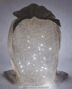 pochon lumineux unique tissu beige lumière froide