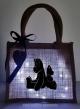 Cabas lumineux lumière froide motif noir